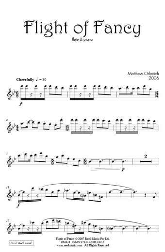 Flight of Fancy (for flute and piano) – By Matthew Orlovich