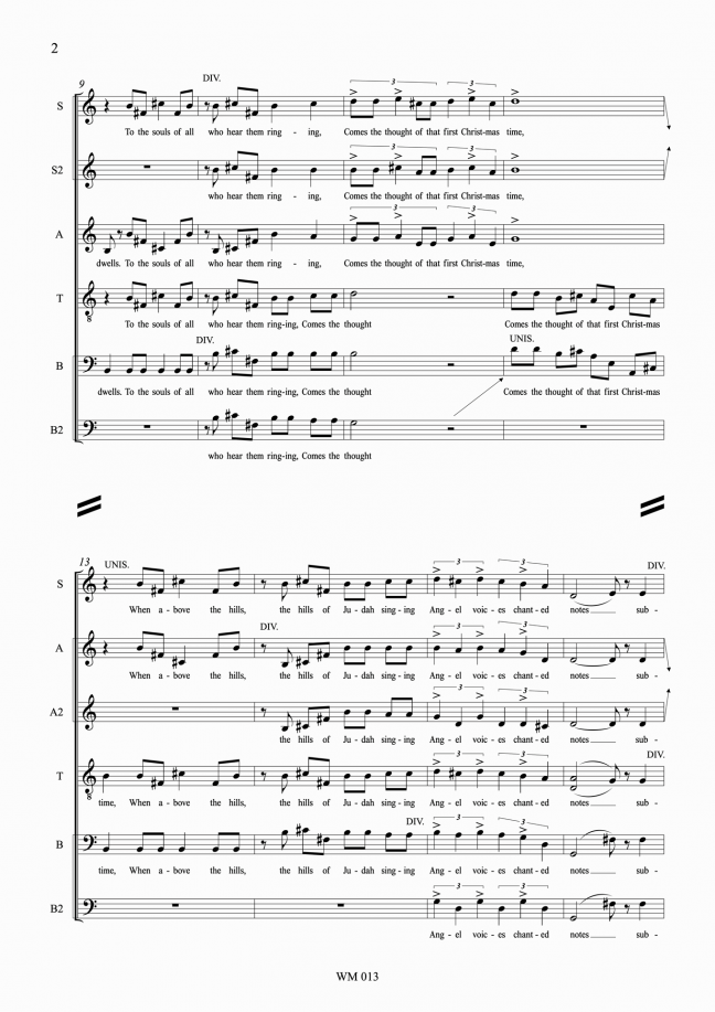 Christmastide for mixed voices (SATB), a cappella – By Matthew Orlovich - p2.