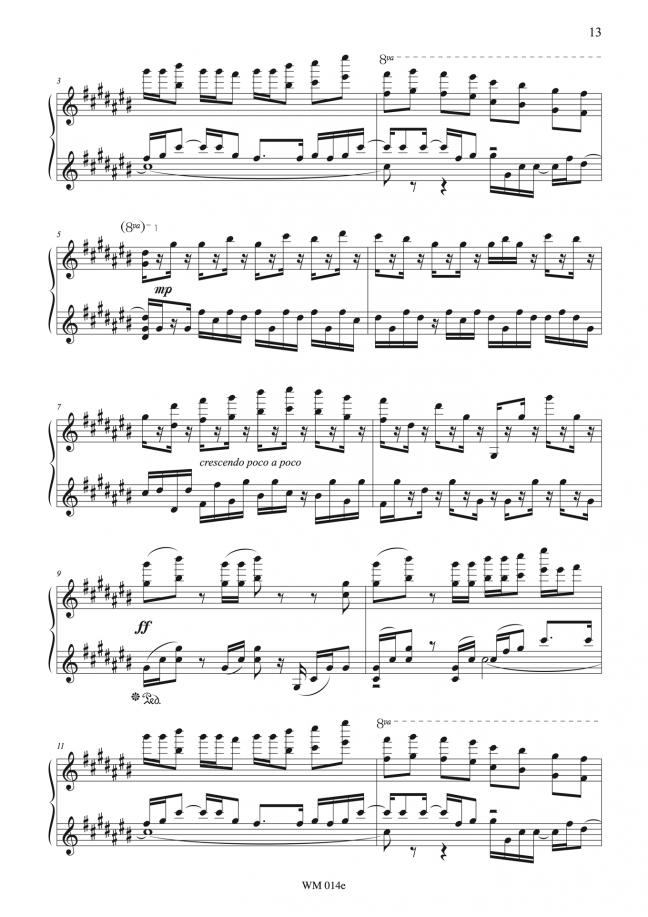 Watercolours (for piano) – p13 – By Matthew Orlovich.